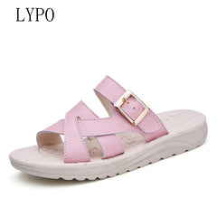 new cool sandals comfortable non-slip sandals beach sandals flip-flops casual flat-bottomed women slippers