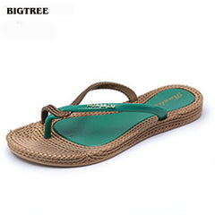BIGTREE 2018 Summer Style Women Flip Flops Women Sandals  Flip Slippers Beach Shoes 6.7 LAG