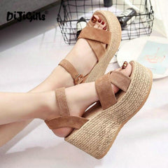 HIGH HEELS PLATFORM OPEN TOES BUCKLE WOMEN SANDALS