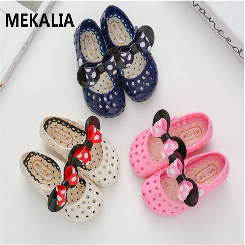 kids Garden shoes 2018 New Mini Melissa Mickey Sandals Jelly Crystal Children Shoes Mickey Minnie Girls Slippers Princess Shoes