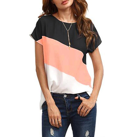 Fashion Hot New Women Summer Patchwork Tops