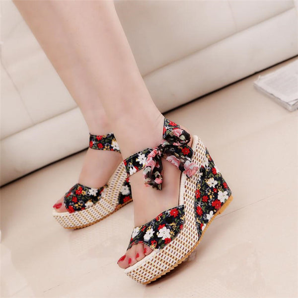 Fashion Platform High Heels Wedge Tenderla