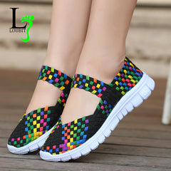 Women Woven Shoes 2018 Summer Breathable