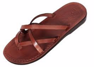 Strapy cross Genuine Leather Sandals for women