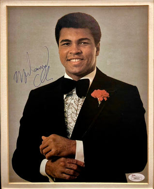 Muhammad Ali Vintage signature on a Autograph  11x14 size photo