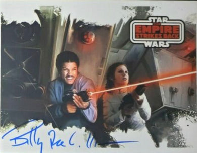 Billy Dee Williams autographed Star Wars photo