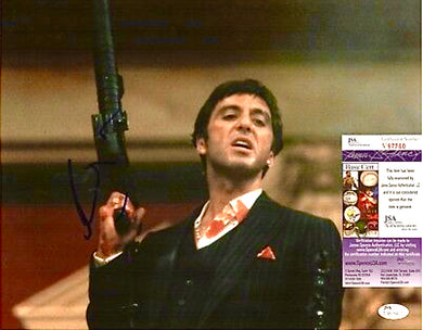 Tony Montana Al Pacino, Autographed 11x14 photo JSA
