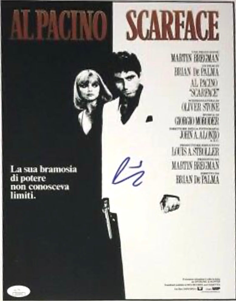 Tony Montana Al Pacino autographed 11x14 Scarface photo JSA