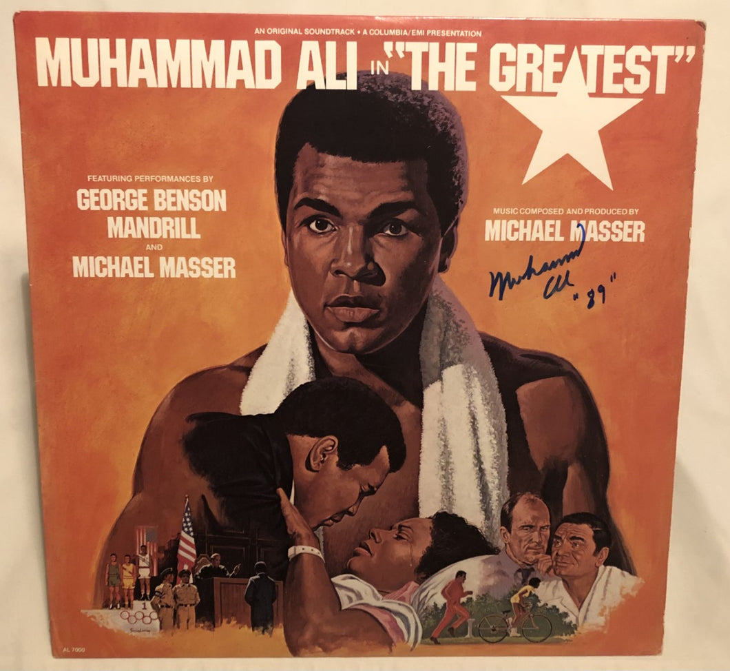 Muhammad Ali Autographed Rare Record Album Cover hand signed with photo proof
