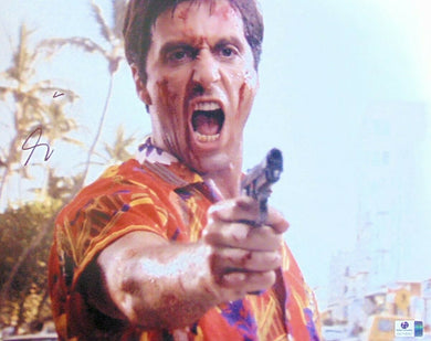 Al Pacino Signed Autographed 11X14 Photo Scarface Tony Pointing Gun GV718357