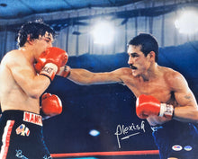 Alexis Arguello Signed 16x20 Boxing Photo vs. Ray Mancini PSA/DNA