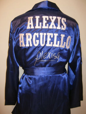 Alexis Arguello Signed Autographed Boxing Custom Rare Robe ASI Certified
