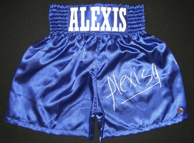Alexis Arguello Signed Autographed Boxing Custom Rare Trunks ASI Certified