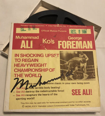 Muhammad Ali Autographed Super Rare 8mm Film Album Cover hand signed
