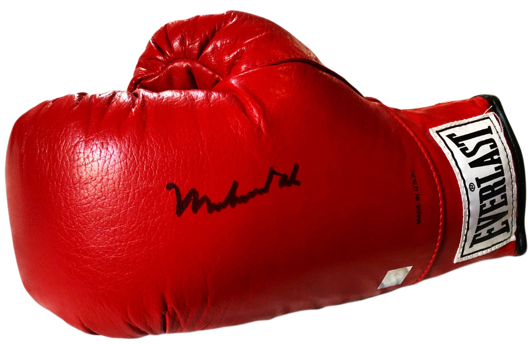 Muhammad Ali Autographed Vintage Everlast Red Boxing Glove Superstar Greetings certified SSG