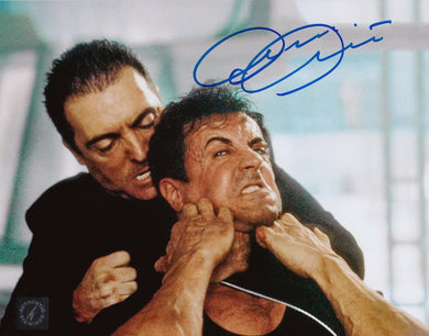 Armand Assante Autographed DREDD 8x10 Photo w/ Sylvester Stallone ASI Proof