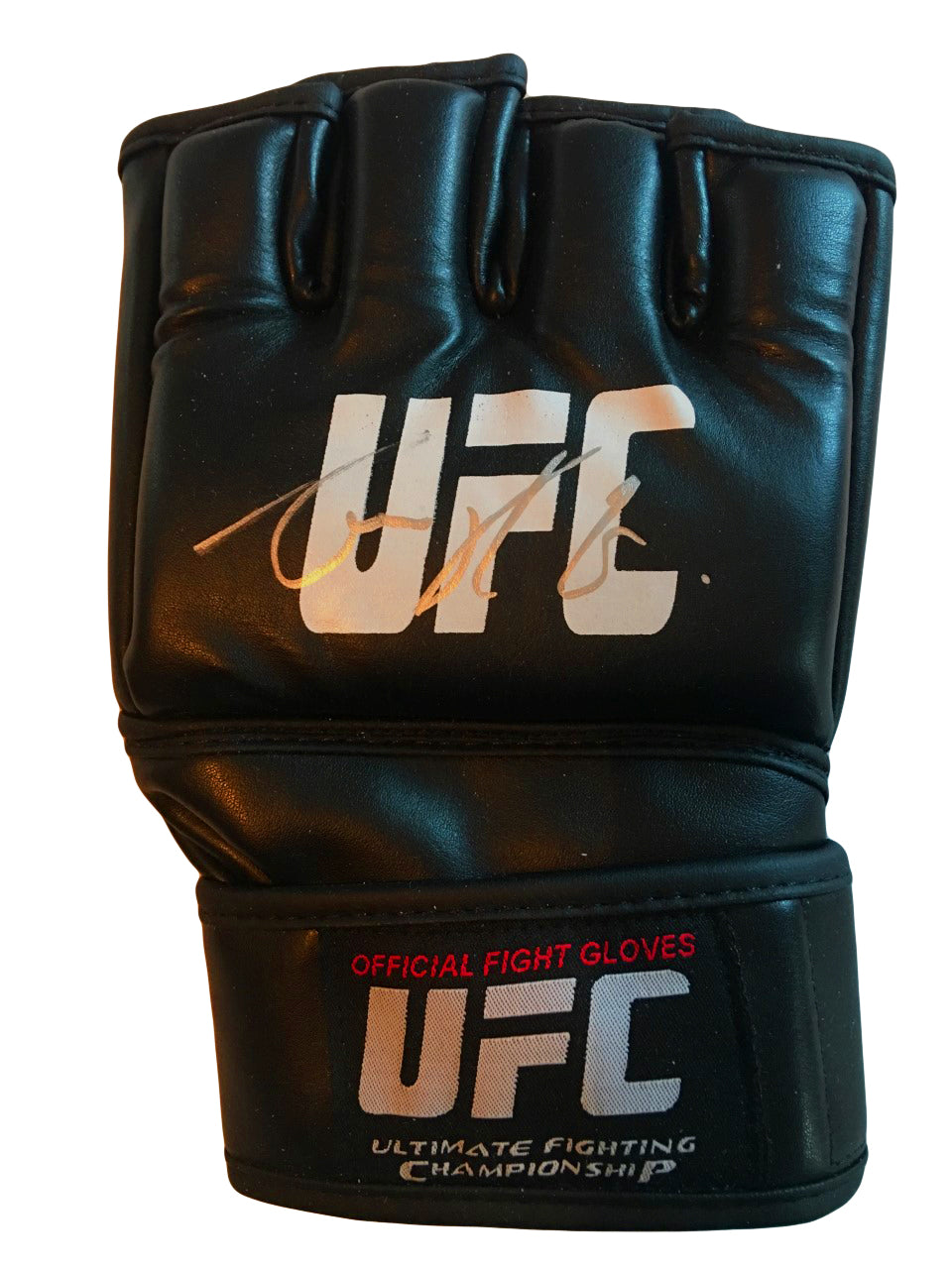 Conor McGregor Autographed Black UFC Fight Gloves Size XXX-Large In Silver Authentic