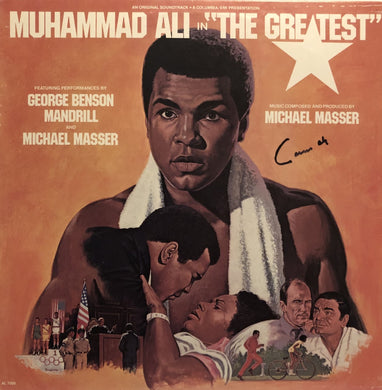 Muhammad Ali aka Cassius Clay Autographed Rare Record Album Cover hand signed in blue ink with photo proof