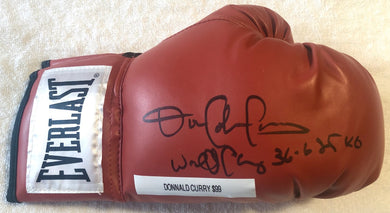 Donald Curry Rare Autographed Signed Everlast Boxing Glove