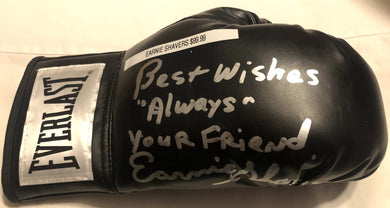 Earnie Shavers Signed Everlast black Boxing Glove Rare! Photo proof.