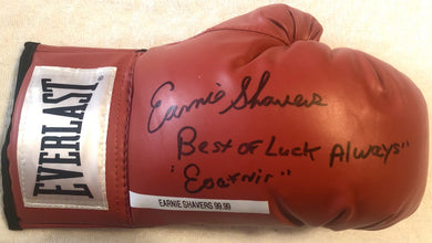 Earnie Shavers Signed autographed Red Everlast Boxing Glove Rare! Photo proof.