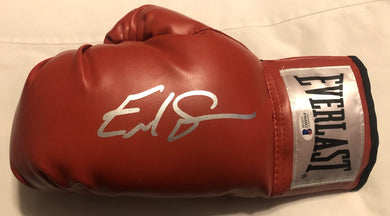 Errol Spence Jr. Silver Autographed signed Red boxing Glove Certified.