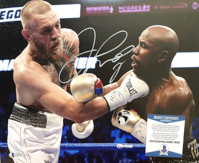 Floyd Mayweather Jr. vs McGregor Signed 11x14 Photo (Beckett COA)