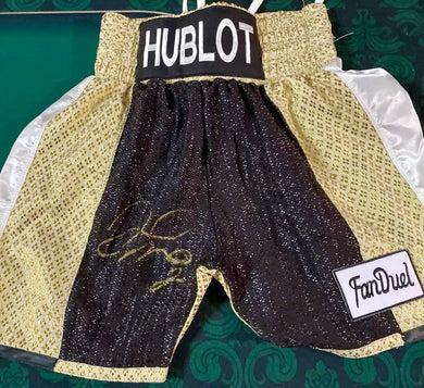 Floyd Mayweather Jr., Autographed Custom Made HUBLOT Boxing Trunks