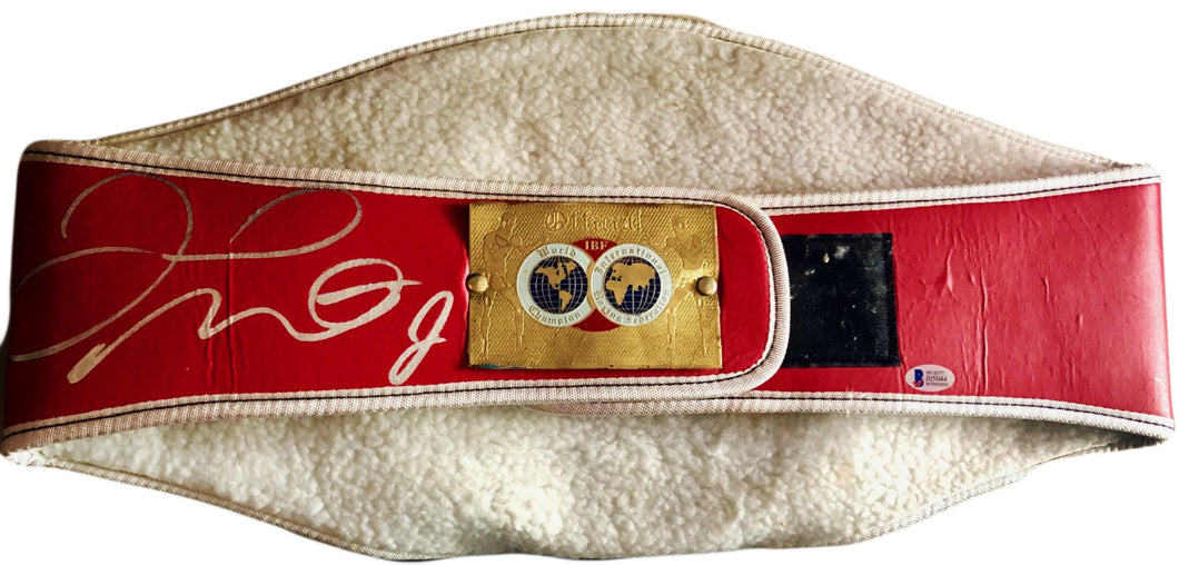 Floyd Mayweather Jr. Signed Full Size IBF Heavyweight Championship Belt (Beckett)