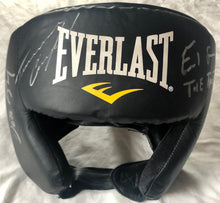 Boxing Headgear autographed by Terence Crawford and Errol Spence Jr. JSA Cert