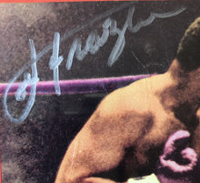 Joe Frazier Signed Autographed Rare Ring Magazine in silver signature JSA certified