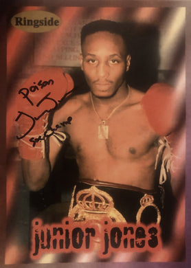 Junior Poison Jones Autographed signed 8x10 Ringside Boxing Photo.