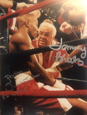 Junior Poison Jones and Tommy Brooks Dual Autographed signed 8x10 Boxing Photo.