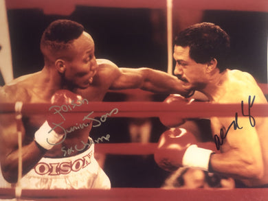 Junior Poison Jones vs Orlando Canizales Dual Autographed signed 8x10 Boxing Photo.