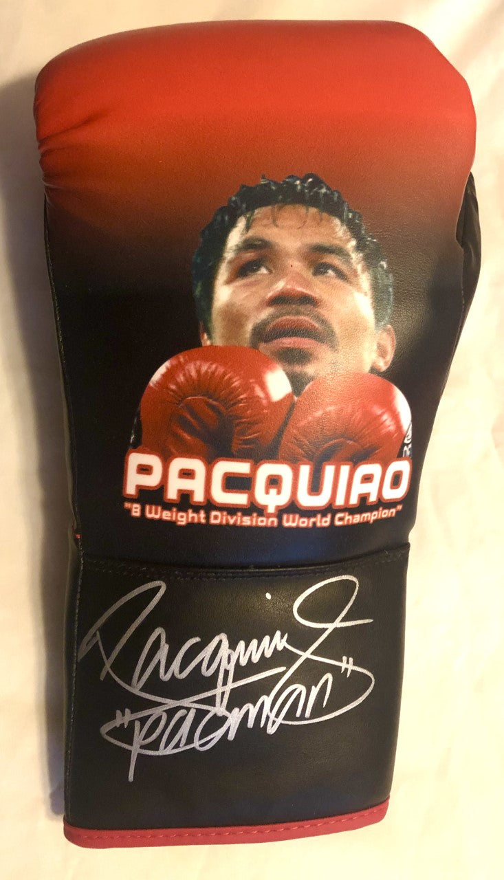 MANNY PACQUIAO SIGNED Painted AUTO BOXING GLOVE Certified Photo