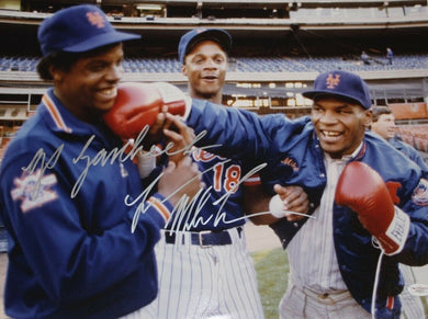 MIKE TYSON SIGNED 16X20 PHOTO JSA AUTHENTICATED COA