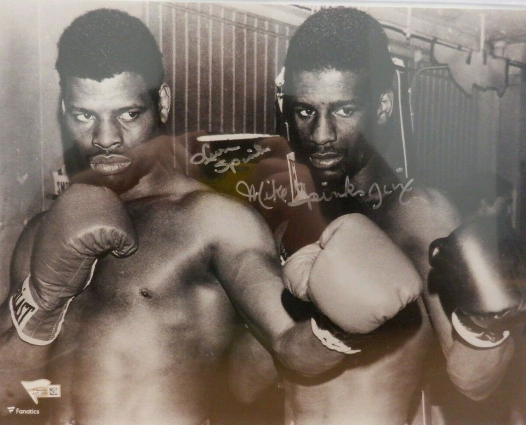 Leon Spinks Michael Spinks Signed Autographed 11x14 photo Fanatics