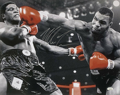 Mike Tyson Signed 16x20 Boxing Photo vs. Trevor Berbick JSA ITP