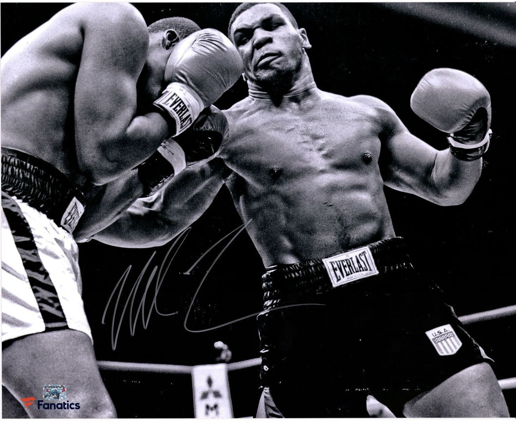 Mike Tyson Autographed Amazing Rare 16