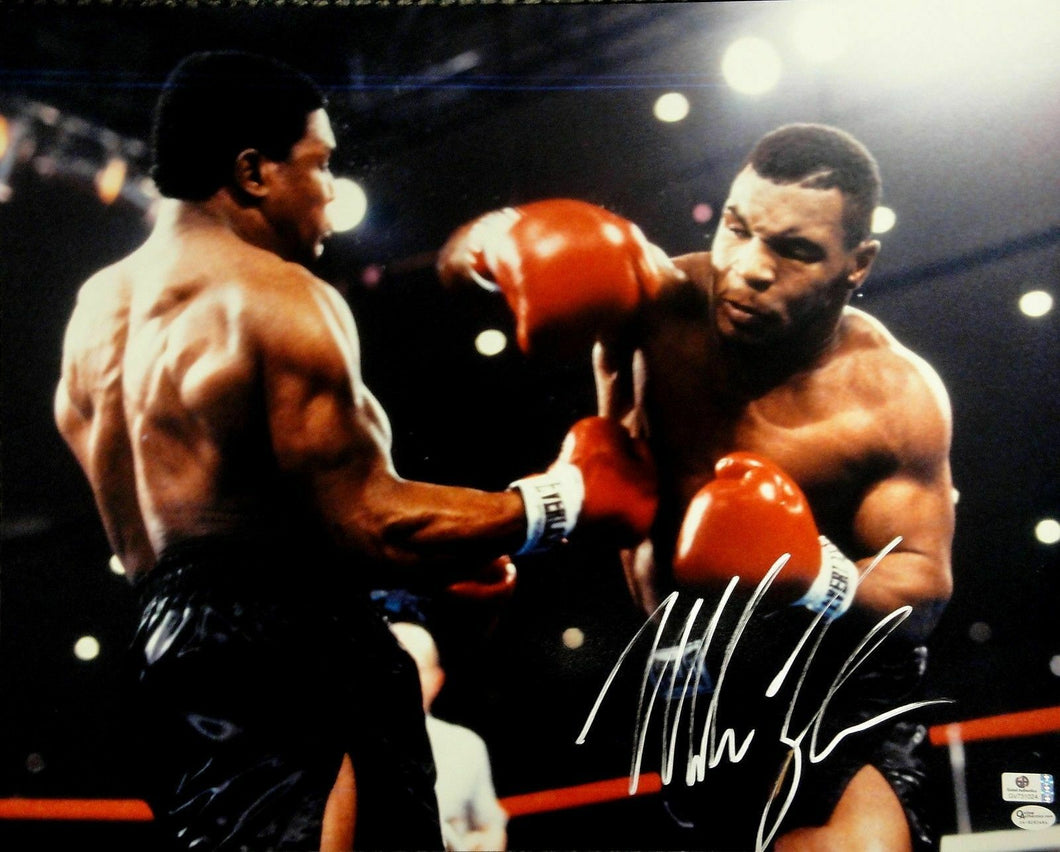 Mike Tyson Hand Signed Autographed 16X20 Photo Punching Boxing Certified OA