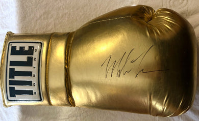Mike Tyson Autographed Huge 22 inch Gold Boxing Glove