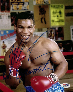 Mike Tyson Signed 8x10 Photo PSA/DNA COA w/ Kid Dynamite Insc Autographed Auto