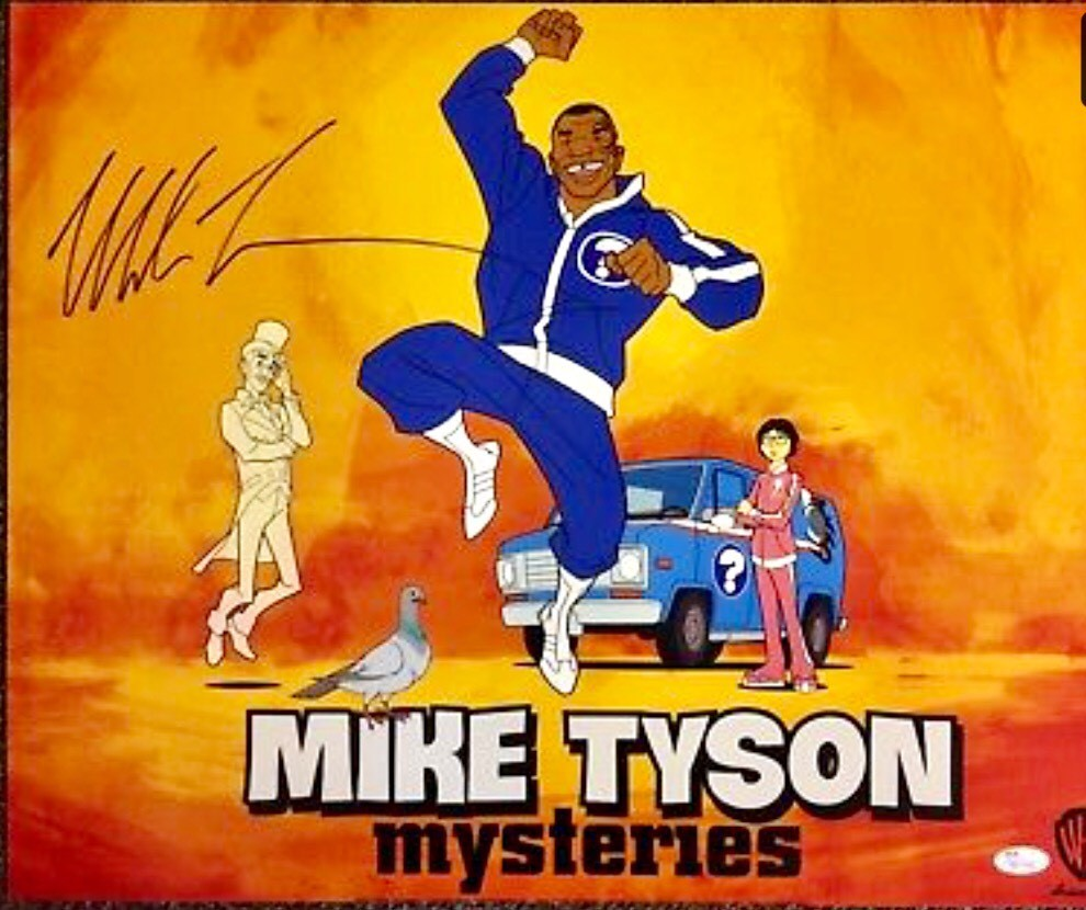 Mike Tyson Mysteries Signed 16x20 Photo Autographed JSA COA Poster ITP Witnessed