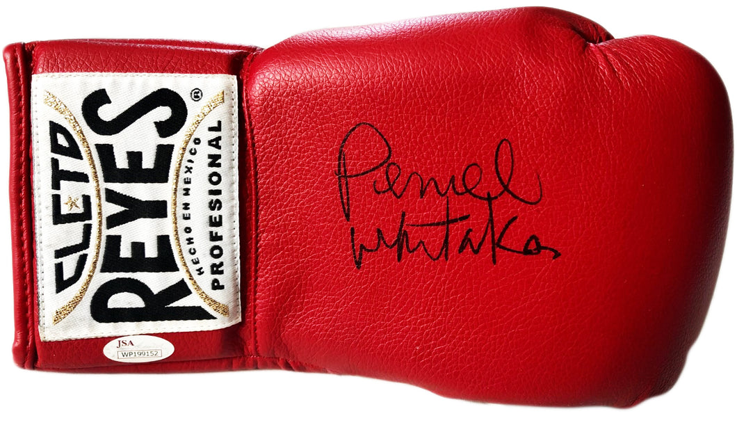 Pernell Whitaker Signed Red Rare Reyes Boxing Glove JSA
