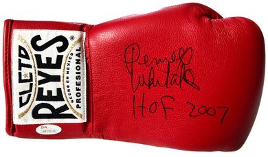 Pernell Whitaker Signed Red Rare Reyes Boxing Glove signed HOF 2007, JSA