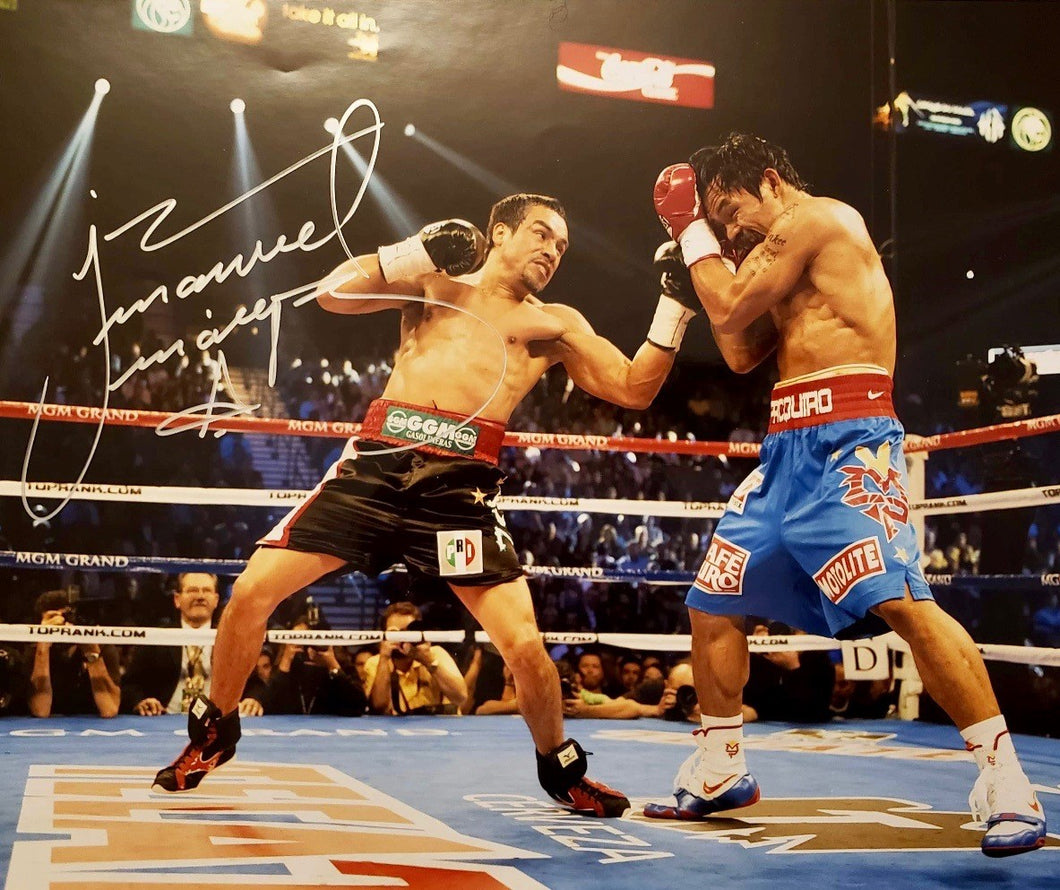 Juan Manuel Marquez vs. Manny Pacquiao Autographed 11x14 signed Boxing photo, Beckett cert