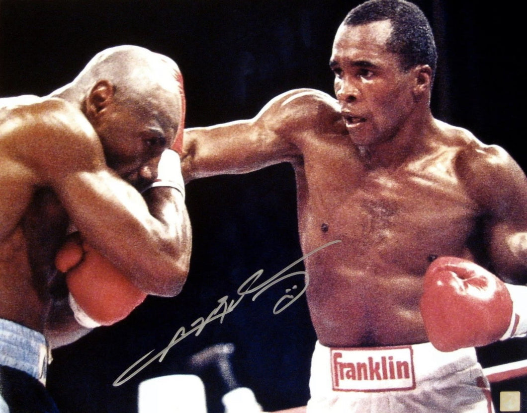 Sugar Ray Leonard vs. Marvin Hagler signed autographed 16x20 Photo (ASI COA)