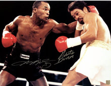 Sugar Ray Leonard vs. Roberto Duran Dual signed 16x20 Photo (ASI COA)