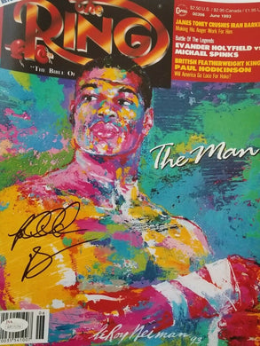 Riddick Bowe signed Gorgeous 11x14 photo JSA coa