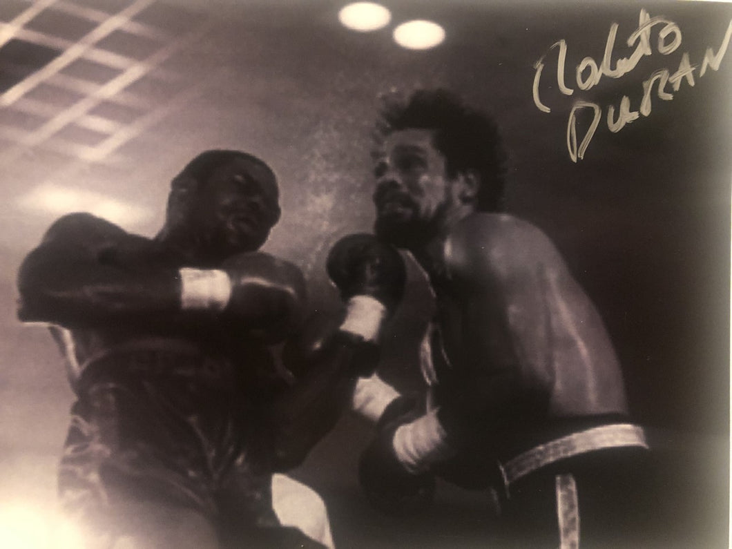 Roberto Duran Autographed Signed boxing 8x10 photo